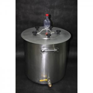 Бродильная ёмкость Гриналко, нерж. сталь, 21 литр