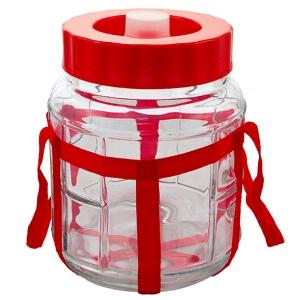 Банка с гидрозатвором стеклянная, 18 литров