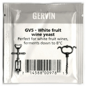 "Винные дрожжи Gervin GV5 ""White Fruit Wine yeast"", 5 гр."