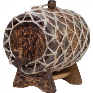 Бочка дубовая «Винтаж» (Российский колотый дуб), 5 литров