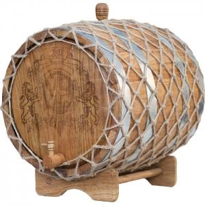 Бочка дубовая «Премиум» (Российский колотый дуб), 30 литров