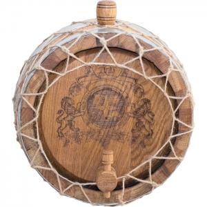 Бочка дубовая настенная «Премиум» (Российский колотый дуб), 3 литра