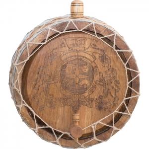 Бочка дубовая настенная «Премиум» (Российский колотый дуб), 5 литров