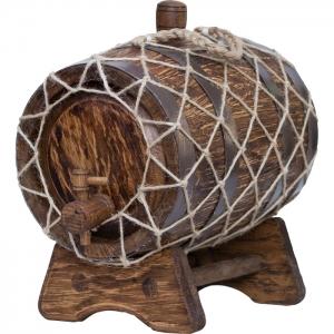 Бочка дубовая «Винтаж» (Российский колотый дуб), 3 литра