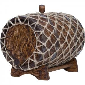 Бочка дубовая «Винтаж» (Российский колотый дуб), 15 литров
