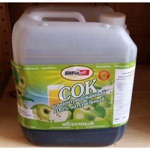 Концентрированный сок «Зелёное яблоко», канистра 5 кг (БАРinoff)