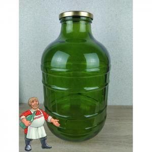 Банка стеклянная ТО-100 (зелёная), 10 литров