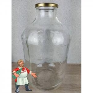 Банка стеклянная ТО-100 (прозрачная), 15 литров